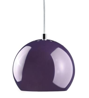 Lampa wisząca Ball 18 cm Śliwkowa