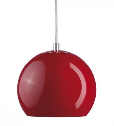 Ball Pendant Lamp 18 cm Red