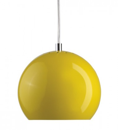 Lampa wisząca Ball 18 cm Żółta