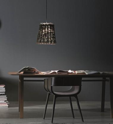 Lampa wisząca Granny 38 cm Szara