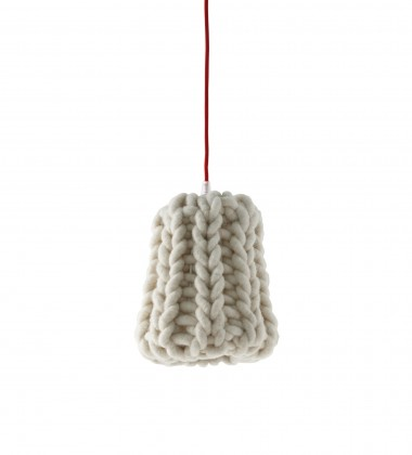 Lampa wisząca Granny 18 cm Kremowa