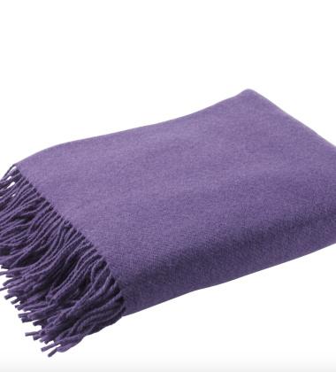 Koc Solid Wool 130x200 Fioletowy
