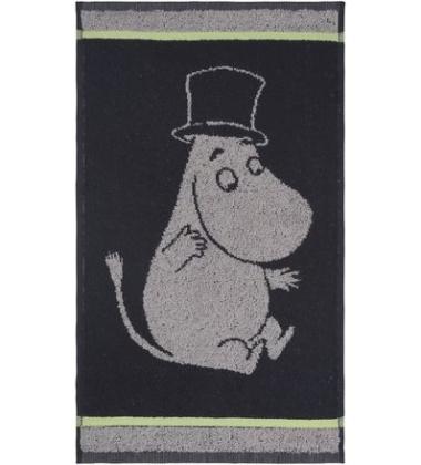 Ręcznik do rąk Muminki Tata Muminka 30x50 Czarny