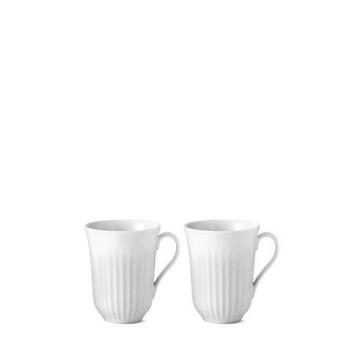 Komplet kubków z uchem Lyngby Set 2 Białe
