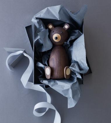 Drewniany Niedźwiadek Mama Bear 18,7 cm Orzech amerykański
