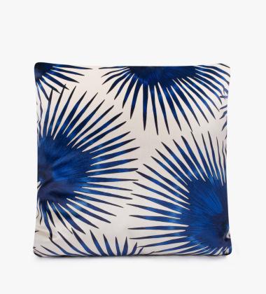 Poduszka welurowa 45x45 cm Blue Palms