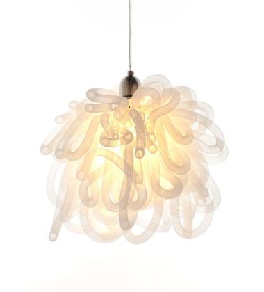 Lampa wisząca KAPOW 30x30 cm Biała