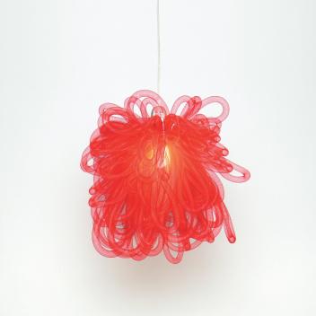 Lampa wisząca KAPOW 30x30 cm Czerwona