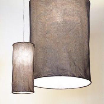 Lampa wisząca HONEYCOMP 45x20 cm Granatowa