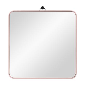 Lustro wiszące VIEW Square 30x30 Różowe