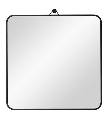 Lustro wiszące VIEW Square 30x30 Czarne