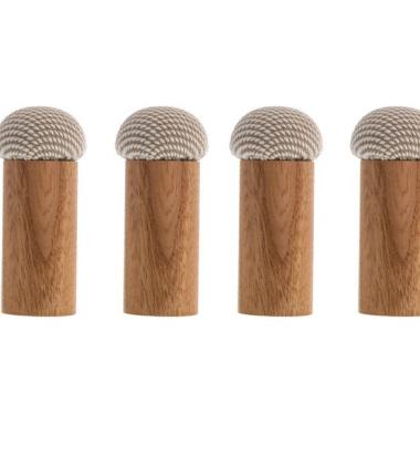Komplet 4 drewnianych wieszaków DICE Steelcut Trio 213 Wiąz