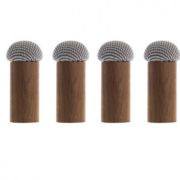 Komplet 4 drewnianych wieszaków DICE Steelcut Trio 113 Orzech