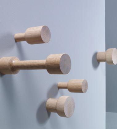 Wieszaki drewniane MESH Set 3 Dąb