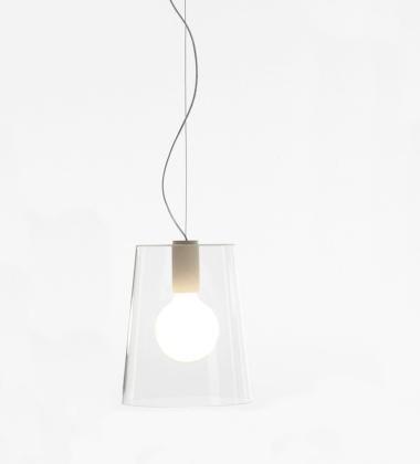 Lampa wisząca L001S A TR 26,5 cm Przezroczysta EXPO
