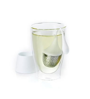 Zaparzaczka do herbaty Hangtea Mała Biała