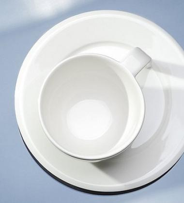 Filiżanka i spodek do Kawy EGO Set 200 ml Biała