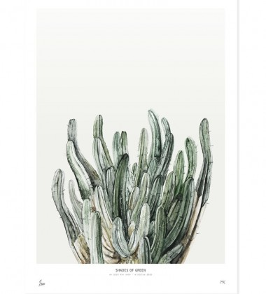 Poster Botanics Shades of Green 40x50 Cactus