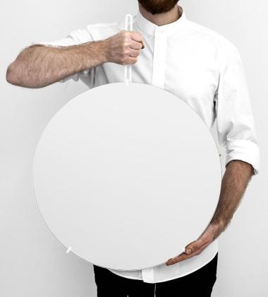 Lustro Ścienne WALL MIRROR 50 cm Białe