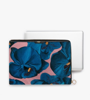 Etui na Laptopa welurowe 13-inch MacBook Orchidee