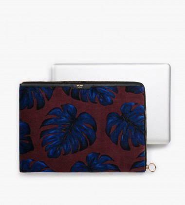 Etui na Laptopa welurowe 13-inch MacBook Monstera Leaves