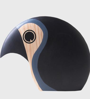 Drewniany ptaszek DISCUS 21 cm Czerwony