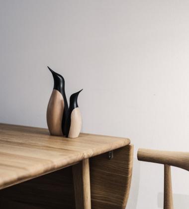 Drewniany pingwin PENGUIN 26 cm