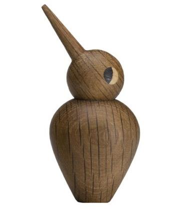 Drewniany ptaszek SMALL BIRD 7,5 cm Dąb Palony