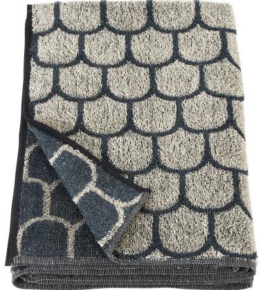 Ręcznik kąpielowy PAANU 80x150 Czarno-Lniany