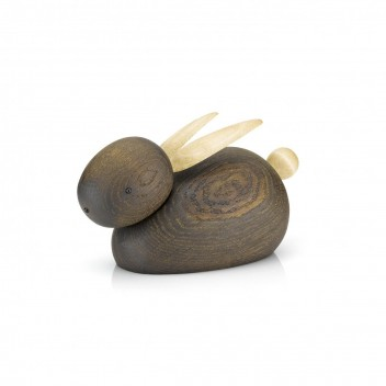 Drewniany królik RABBIT 11 cm Dąb Palony