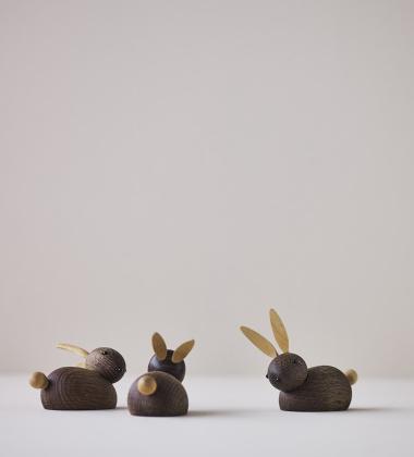 Drewniany króliczek RABBIT 7,5 cm Dąb Palony