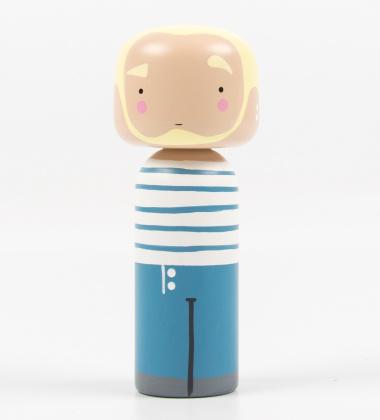Laleczka Kokeshi JEAN PAUL 14,5 cm Niebieski