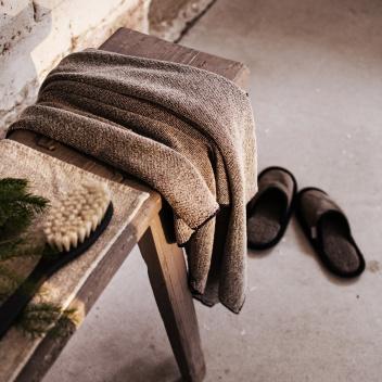 Ręcznik kąpielowy Kivi  80x140 Czarno-Lniany