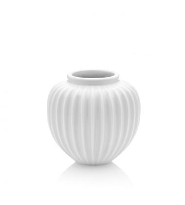 Wazon z porcelany RIBBED H10 cm Biały