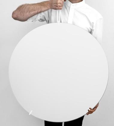 Lustro Ścienne WALL MIRROR 70 cm Białe