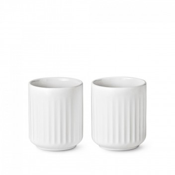 Kubki Thermo z porcelany Lyngby 30 cl Set 2 Białe