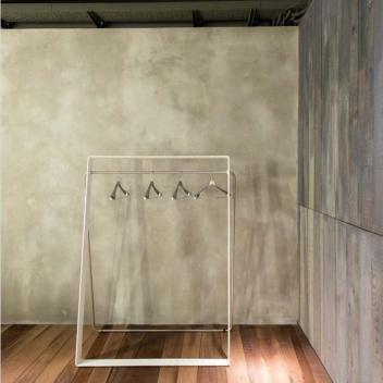 Wieszak podłogowy STENDER 120xH160-172 Biały