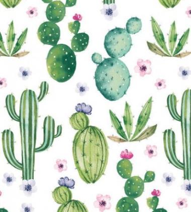 Obrus zmywalny w kaktusy DuniSilk 138x220 Floral Cactus