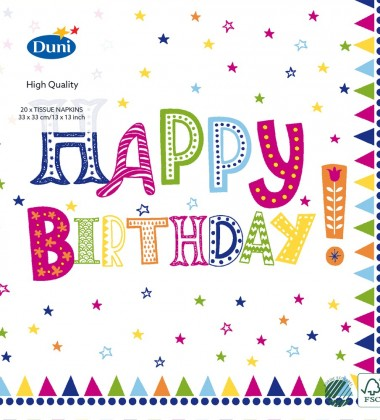 Serwetki papierowe Urodziny 33x33 Happy Birthday