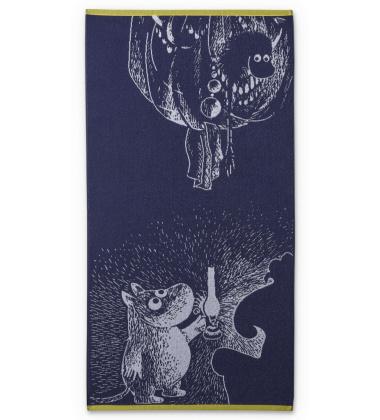 Ręcznik kąpielowy Muminek 70x140 Moomin and The Ancestry Deep Blue