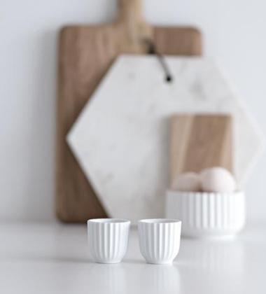 Kieliszki do jajek 5 cm Lyngby Set 2 Białe