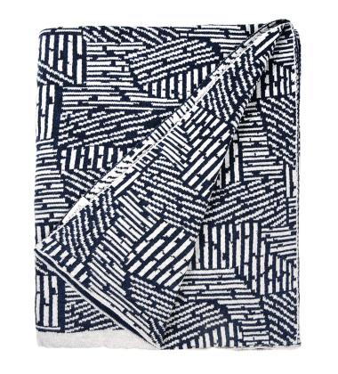 Koc bawełniany MAZE Blanket 120x150 Niebieski