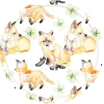 Taca z liskiem For Fox Sake Tray 31 cm Biała