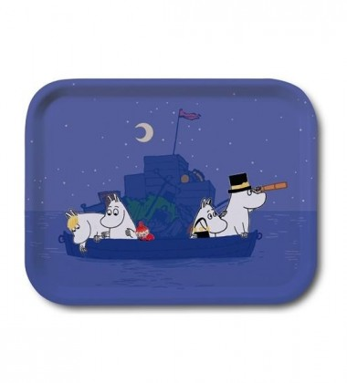 Taca z Muminkami Boat at Night Tray 27x20 cm