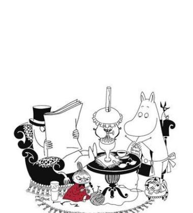 Ścierka kuchenna Moominpappa Reading 50x70 Biała