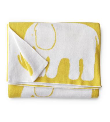 Kocyk bawełniany Elefantti Baby 80x100 Żółty