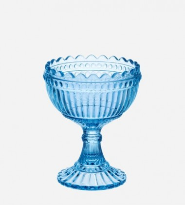 Pucharek Mari Glass Bowl H12 cm Niebieski