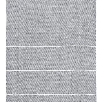 Obrus lniany KASTE 150x260 Szaro-Biały