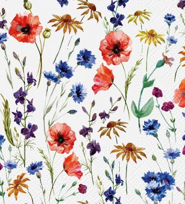 Serwetki papierowe w polne kwiaty 33x33 TAT Field Flowers