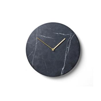 Zegar ścienny Wall Marble Clock 30 cm Czarny Marmur